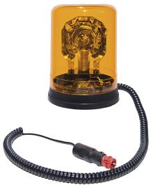 ROTATING BEACON 24V MAGNETIC BASE / WITH SPIRAL CABLE AND CIGARETΤE PLUG