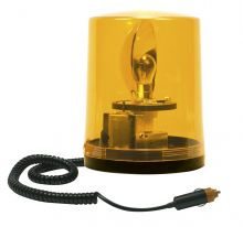 ROTATING BEACON 24V MAGNETIC BASE / WITH SPIRAL CABLE AND CIGAREΤTE PLUG