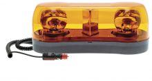 MINI ROTATING LIGHT BAR 10-30V MAGNETIC BASE / SPIRAL CABLE AND CIGARETΤE PLUG